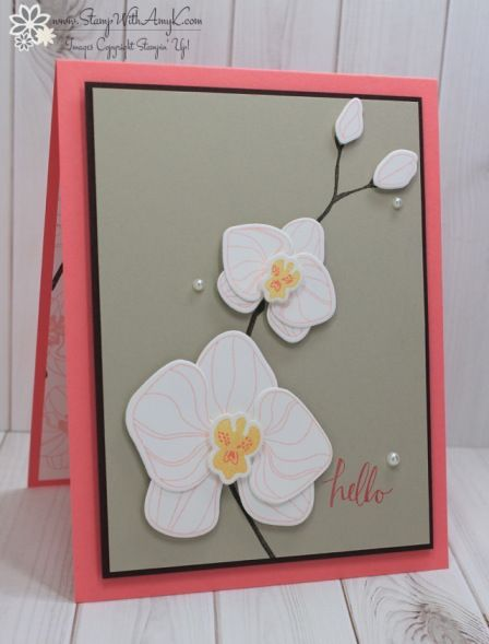 Stampin' Up! CAS Climbing Orchid Hello – Stamp With Amy K