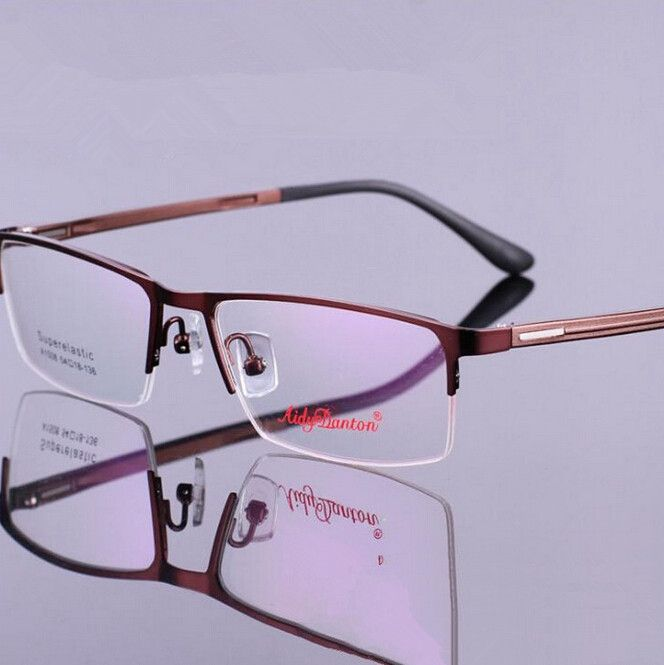 1dbbbcd25ef New Men TR 90 Eyewear Half Frame Eyeglasses Optical Frame Glasses Myopia  Glasses 4 ColorsFree Shipping