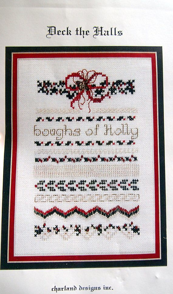 Deck The Halls By Charland Designs Inc. Vintage Cross Stitch