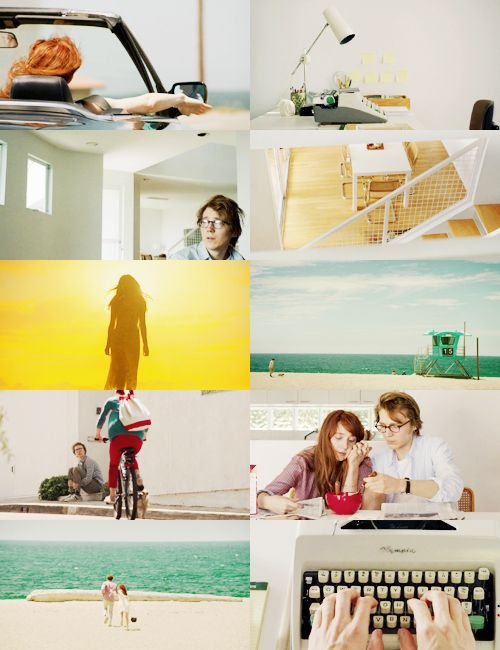 Ruby Sparks. I heard this movie was terrible, but I'm into these bright whites paired with splashes of gold and turquoise.