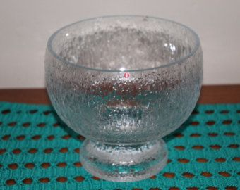 Bowl Finnish Iittala Solaris glass footed