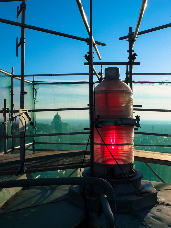 The beacon of the cupola of UdeM, Montreal