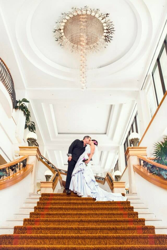 The Marriott, where we had the wedding has the most amazing stair case ... Had to have photos on it!