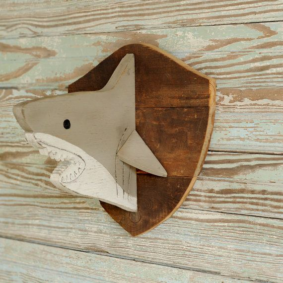 Hey, I found this really awesome Etsy listing at https://www.etsy.com/listing/206868956/wooden-shark-head-art-wall-decor-trophy