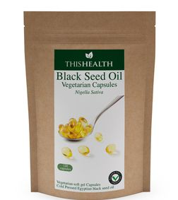 120 Veggie Black Seed Capsules. Cold pressed Egyptian Black Seed Oil.
