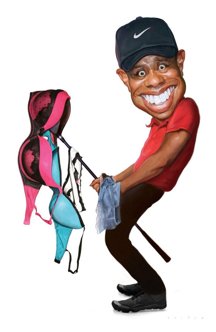 robin williams caricatures | Tiger Woods by Jason Seiler