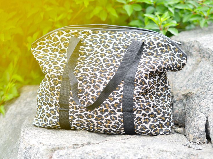 Snygg weekend-väska i leopard | Weekend bag leo animal print inspiration | www.mandeldesign.se
