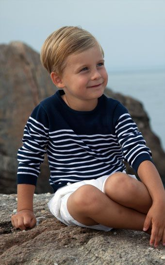 Our Nautical Sweater and White short for boy! The perfect #beach look! Order at: http://www.babycz.com/classic-nautical-striped-sweater-k.html#.Ub_Cq_ZAT8s