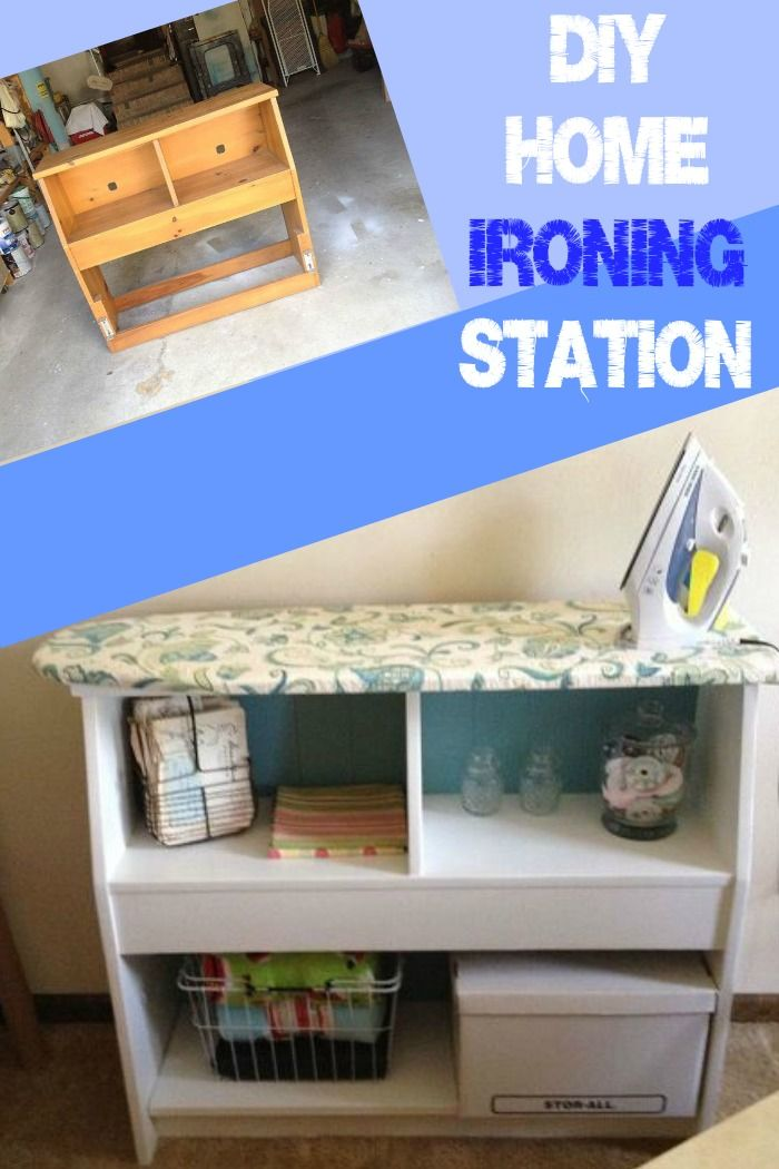 Rather than take up space with an ironing board create space and increase efficiency with this DIY Home Ironing station