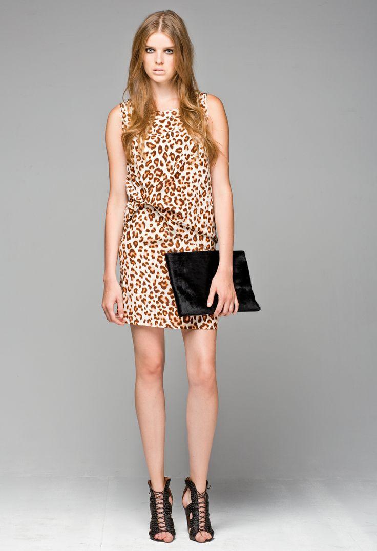 Little Joe Woman's Leopard Print Window Shopper Silk Dress paired with the Art Lover Silk Tank.