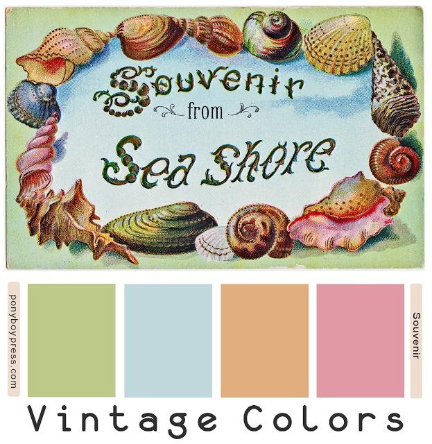 Retro Color Palette | Vintage Color Palettes - Souvenir from Sea Shore