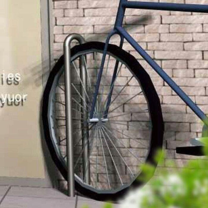 楽天市場 自転車スタンド おしゃれ 屋外 大人気のため予約販売 コンクリート製自転車スタンド Coco 片面1台用 転倒防止 ポストと表札のジューシーガーデン 自転車スタンド 自転車置き場 自転車
