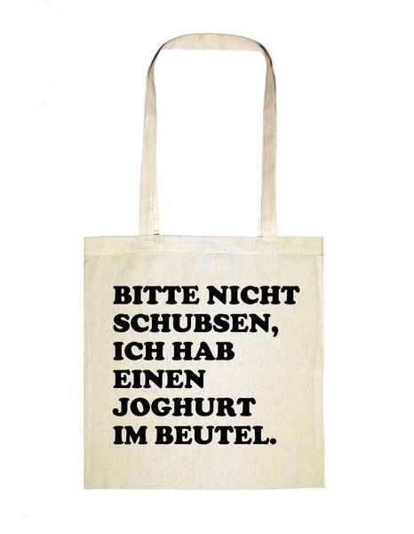 Jutebeutel+•+Joghurt+Schubsen+•+Bio+Fairtrade+von+Das+Goldene+Taxi+auf+DaWanda.com