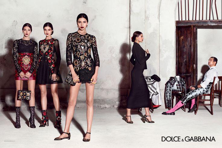 Bianca Balti, Blanca Padilla, Irina Sharipova, Vittoria Ceretti, Misa Patinsky by Domenico Dolce for Dolce & Gabbana Spring Summer 2015  6