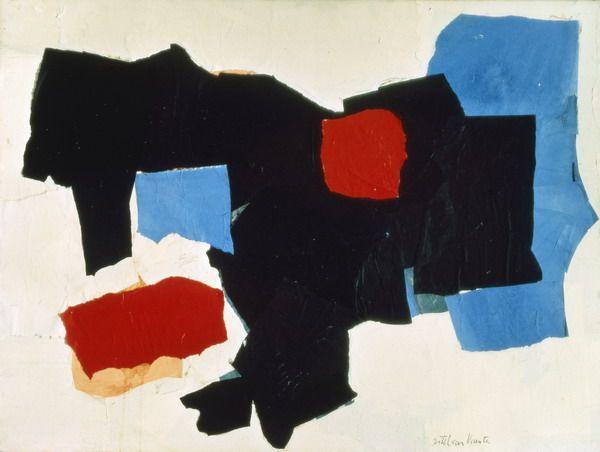 Sin título. Esteban Vicente. 1967. Oléo sobre lienzo.122 x 91,5 cm