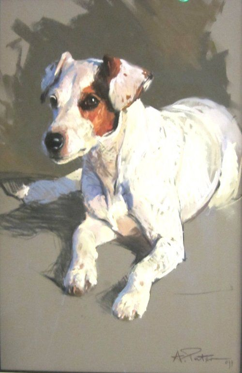 """""""Russell"""" by Andre Pater, Polish-American known for his sporting art, b.1953"""