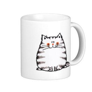 Fuzzy cat coffee mugs