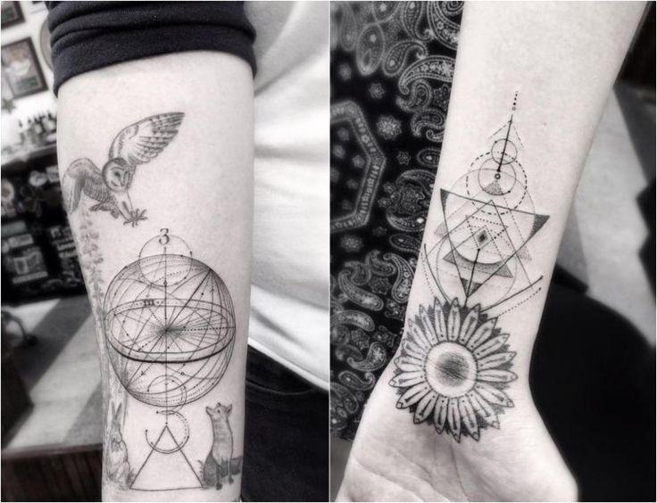 best 25 geometric flower tattoos ideas on pinterest. Black Bedroom Furniture Sets. Home Design Ideas