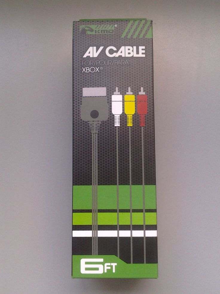 New KMD AV Cable For Xbox Composite RCA 6 Feet Compatible With Xbox #KMD