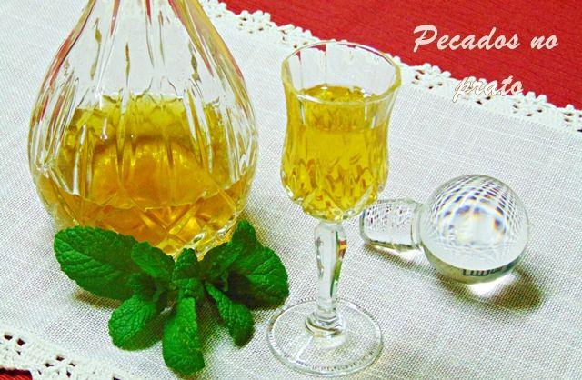 Receitas de pecados no prato: Licor de hortelã, um digestivo bem agradável e doc...