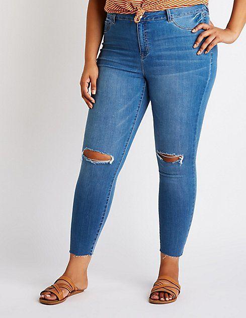 926d64678 Plus Size Refuge Destroyed Skintight Legging Jeans | O U T F I TS ...