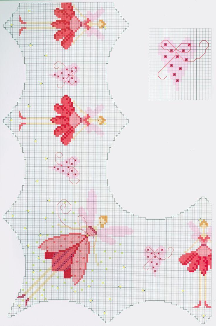 Free fairy (part 1) cross stitch pattern from www.coatscraft.pl