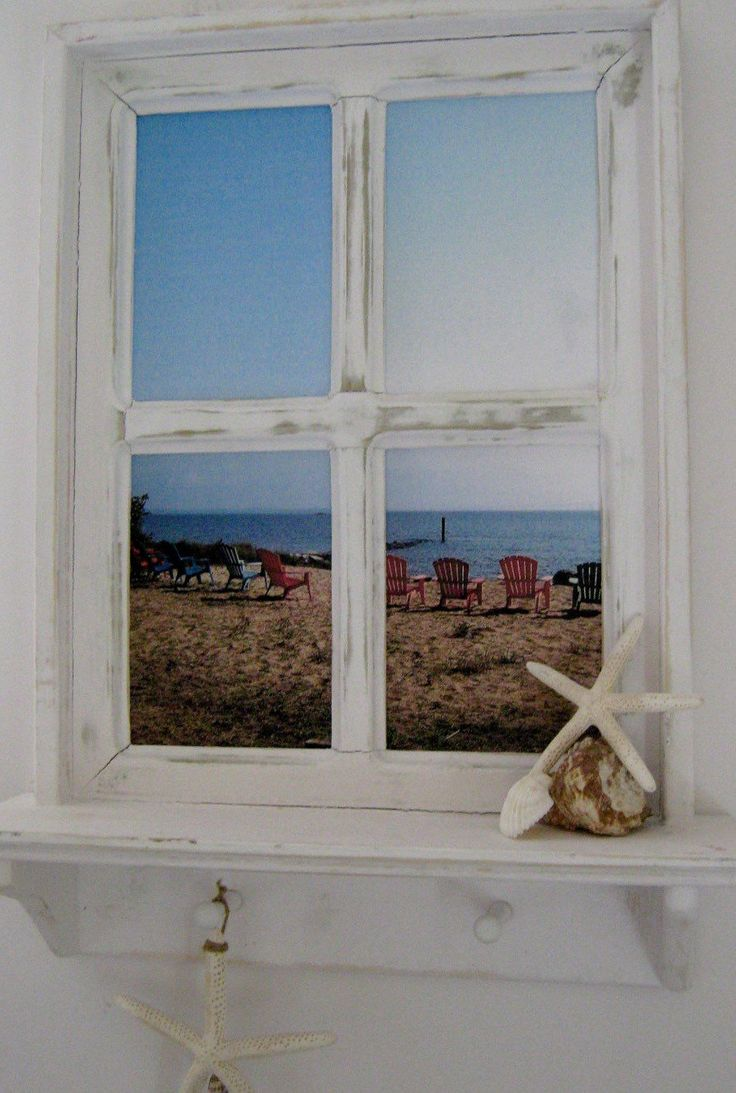 Framed Photography Handmade Wooden Faux Window Frame Beach Photo Annapolis Photo Beach House Decor by PineTerraceTreasures on Etsy