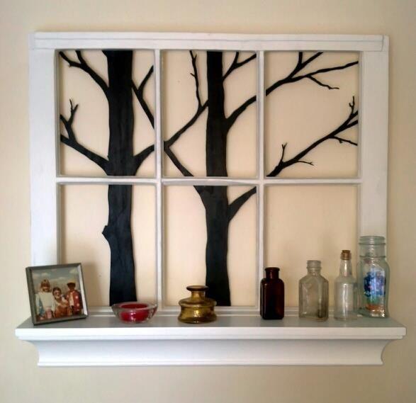 Ventana recuperada como objeto decorativo #upcycle #window #ventana #reutilizada