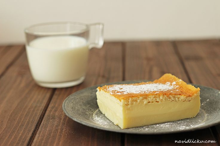 Vanilkový magic cake - Na vidličku