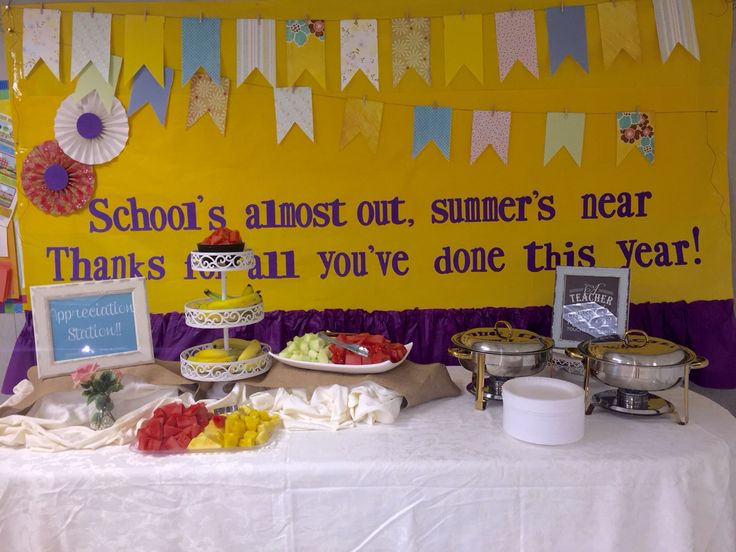 Teacher appreciation breakfast bar..