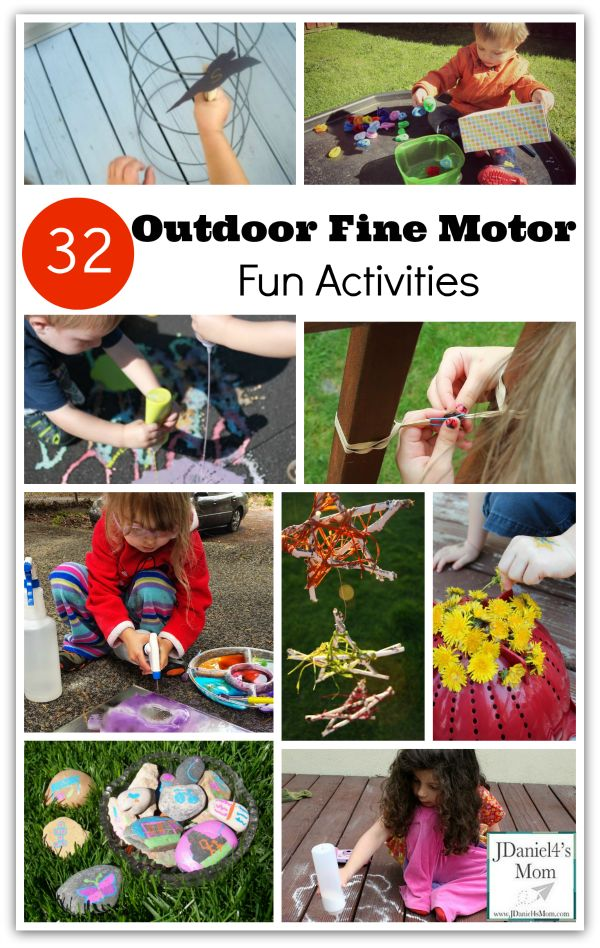 Kids Outdoor Fine Motor Fun