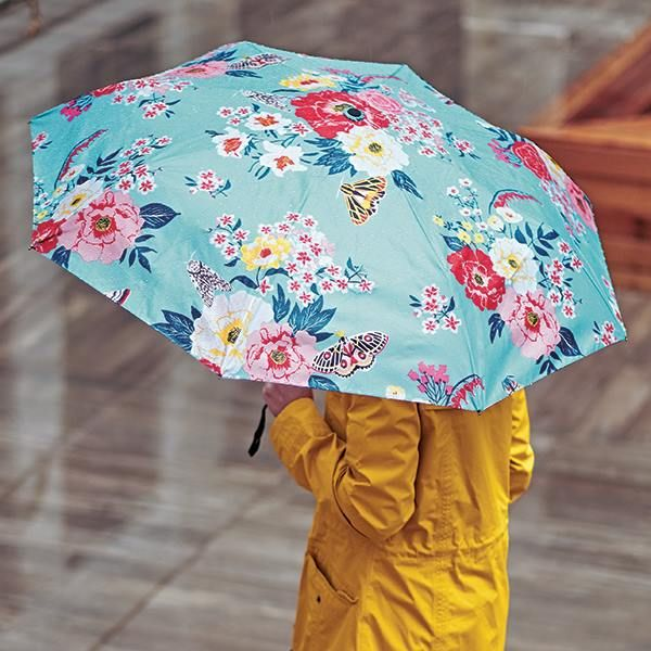 Floral Umbrella with Pouch at Paper Source