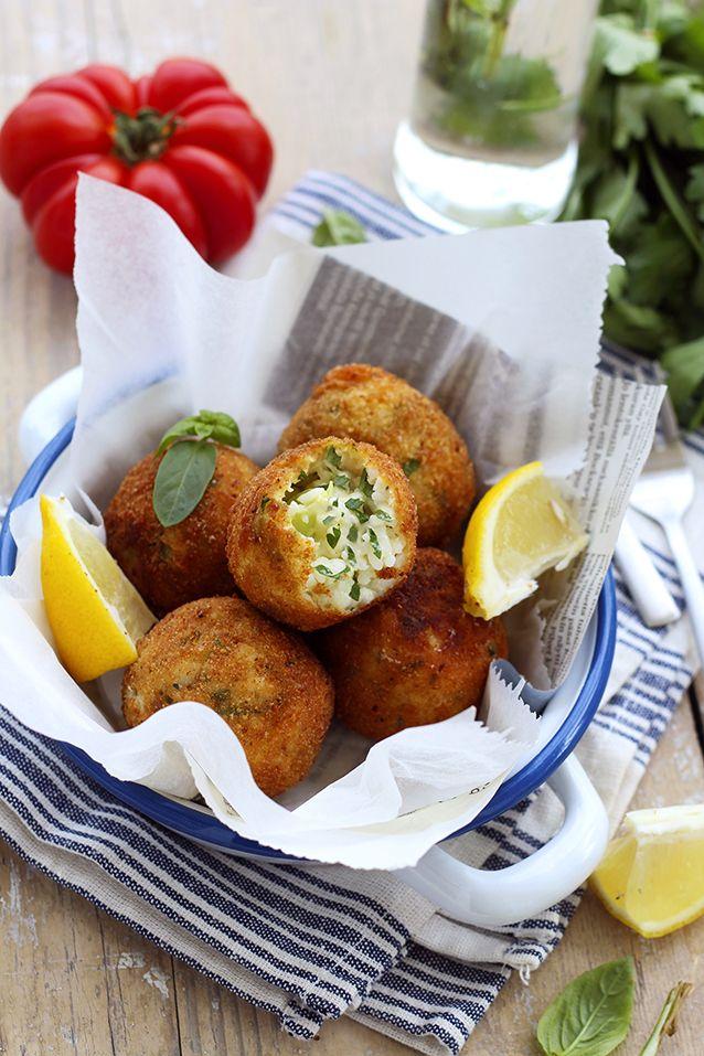 Découvrez les arancini ! Des petites boulettes rigolotes à base de risotto asperges Toupargel et de mozzarella mitonnées par Piment Oiseau !