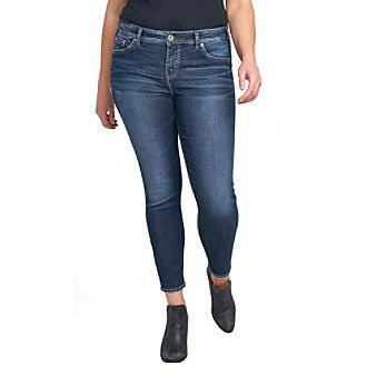 Silver Jeans Co. Plus Size Mazy Ankle Skinny Jeans | Plus size ...