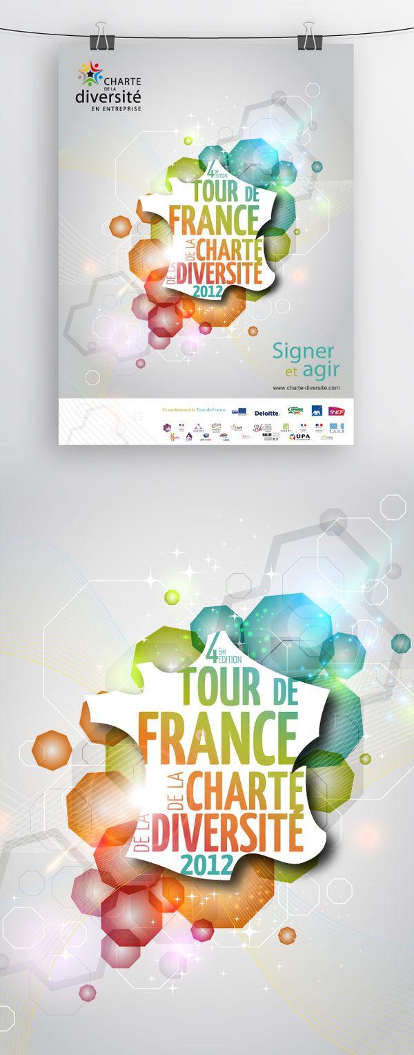 Tour de France de la Diversité by Sharky Design, via Behance