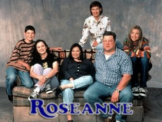 Roseanne tv show cast photo rare john goodman roseanne barr laurie metcalf dan fishman sarah gilbert