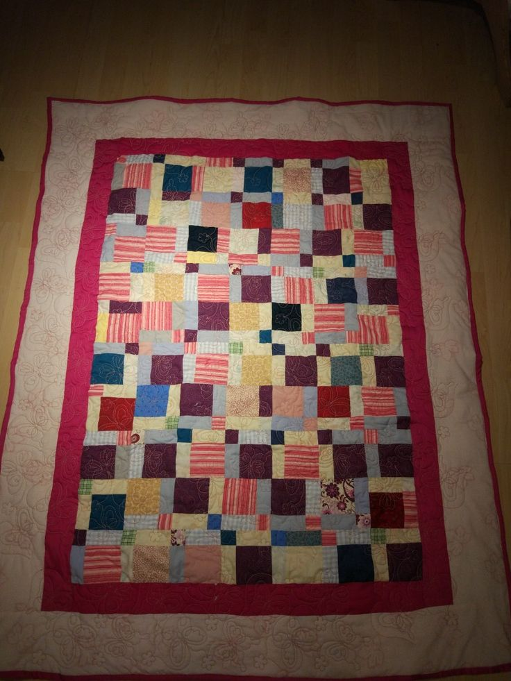 Scrappy Baby Quilt for a Girl