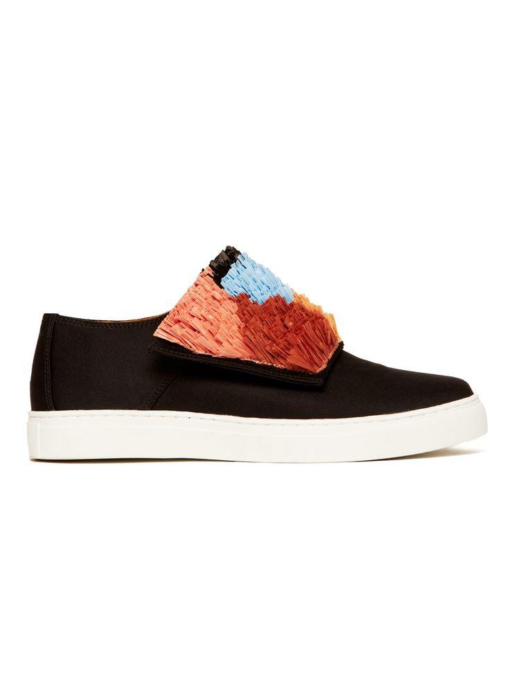 Raffia Flower Sneakers