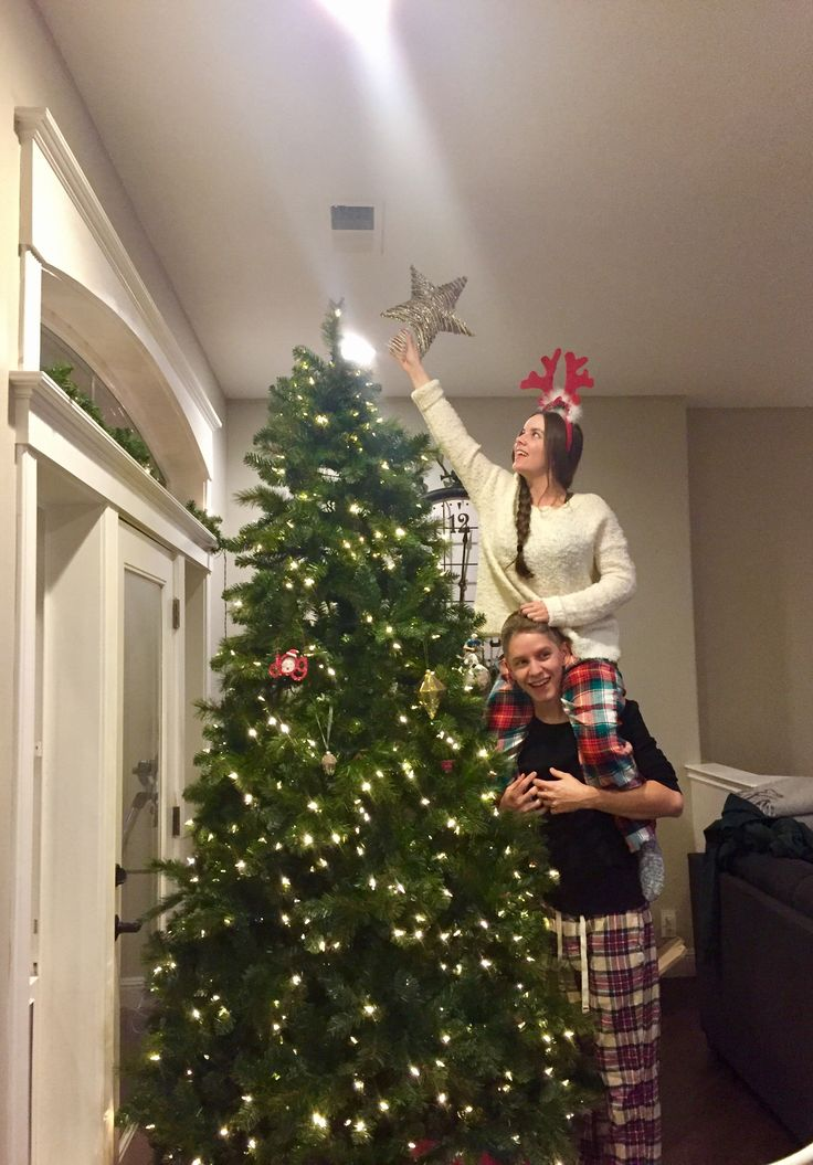 Christmas holiday couples photo. Christmas tree photo