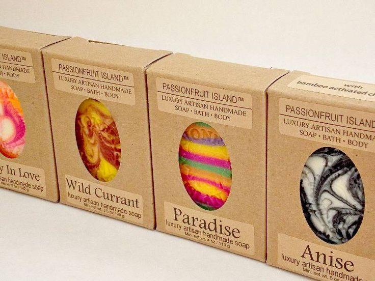 PASSIONFRUIT ISLAND SOAP LABELS