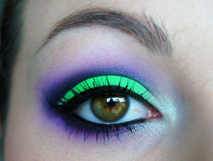 Neon Makeup #NeonSummer. Would be cool if not wearing a Halloween costume.