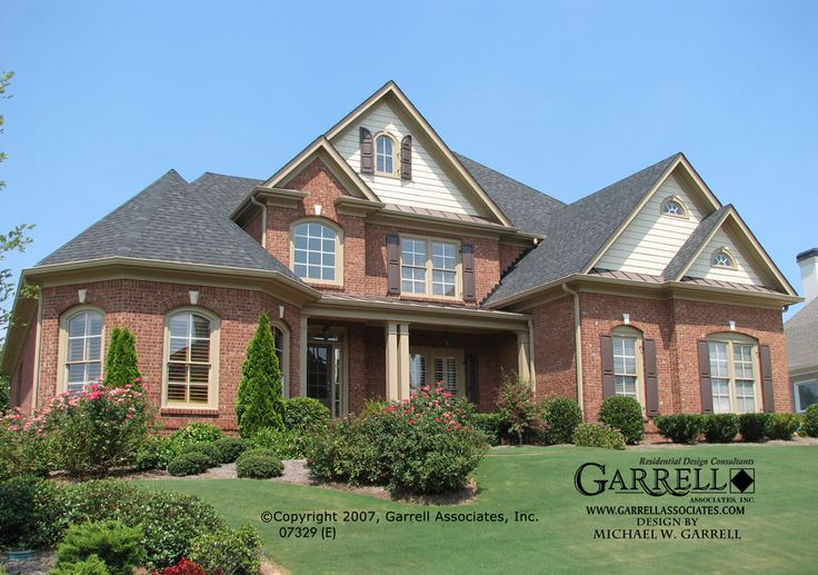 Garrell associates inc newcastle e house plan 07329 French country house plans with front porch