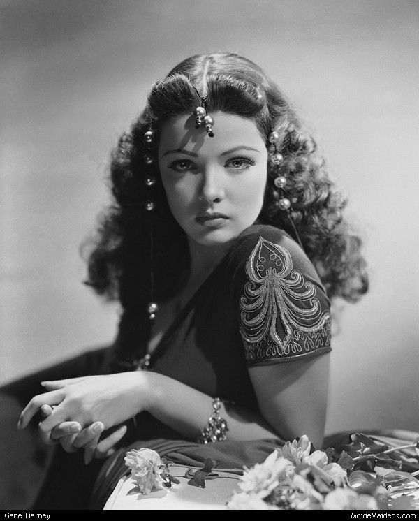 Gene Tierney - Beautiful Classic Actresses of the 1920s 1930s 1940s 1950s by Gmomma