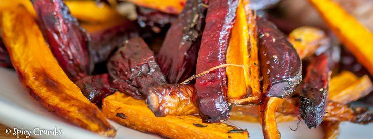 Pečená červená řepa s mrkví jako příloha