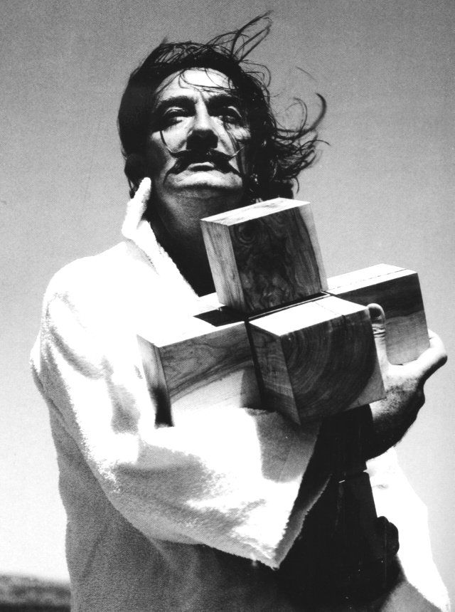 "This guy oozed ""cool and confidence!"" Salvador Dalí and Hypercube, 1954."