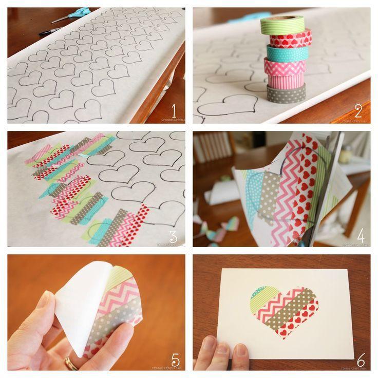 Using Washi tape to make greeting cards