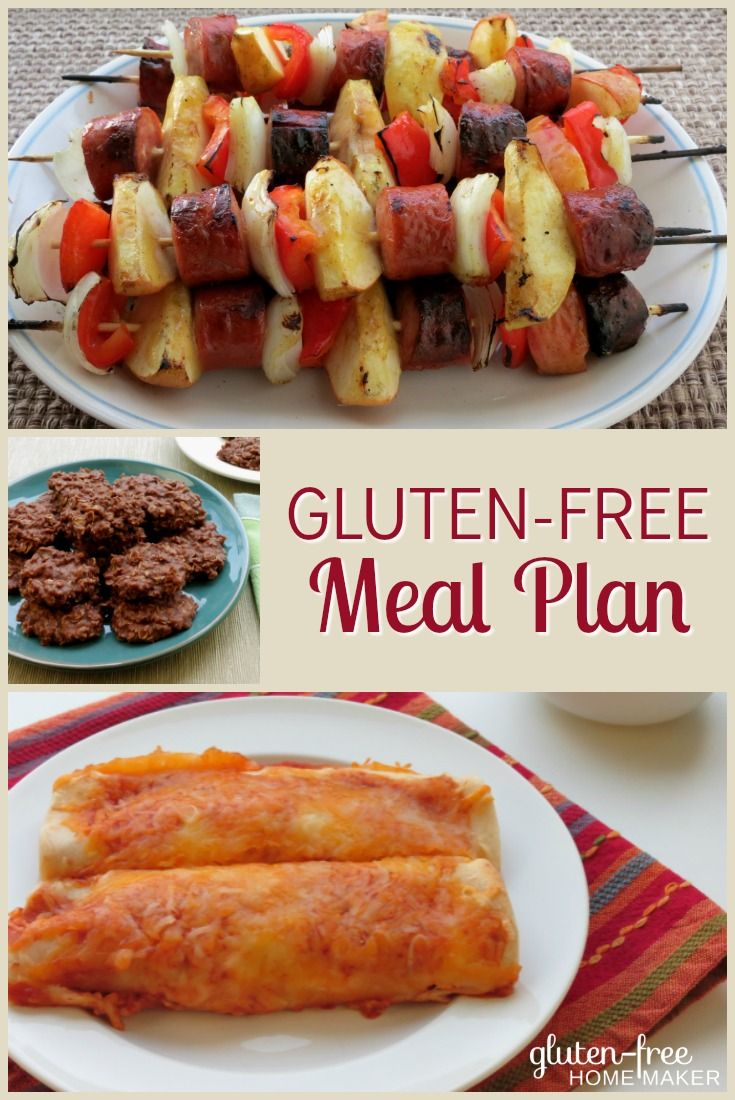This week's gluten-free meal plan has lots of delicious recipes that are perfect for hot weather including grilled kabobs, slow cooker, and skillet meals. And classic no-bake cookies as well as the peach basil pops are perfect summer treats!