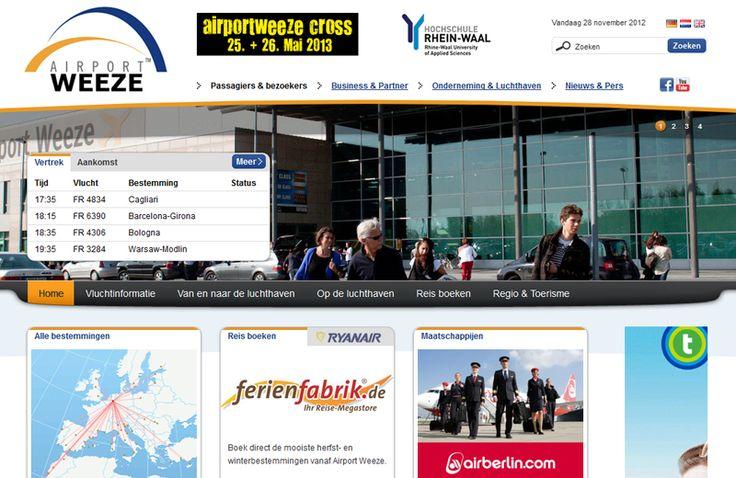 Cowpunks heeft de meertalige website voor Airport Weeze gebouwd. Bijzondere aan deze site is de online en realtime koppeling met de verkeerstoren van het vliegveld. http://cowpunks.nl/portfolio_webdesign_websites_webapplicaties_onlinemarketing/airport_weeze