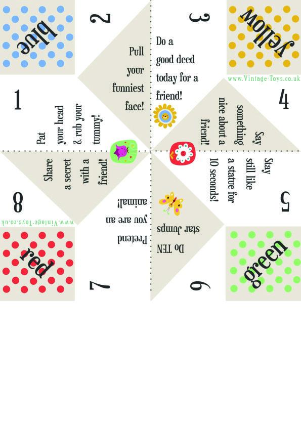 Free Paper Fortune Teller Printable Templates