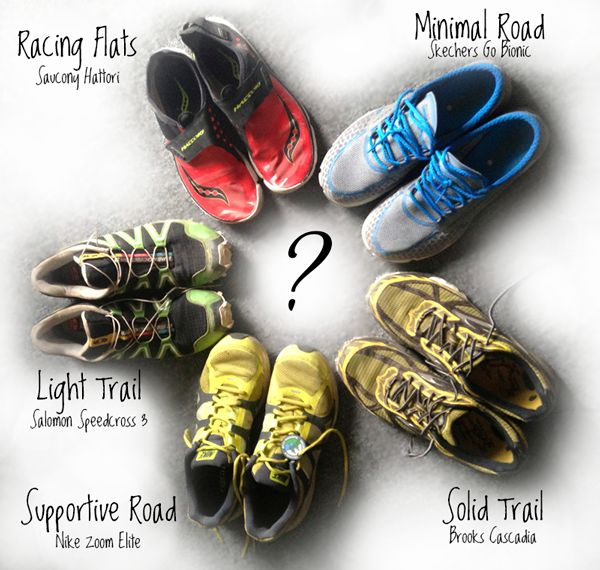 Choosing the right running shoe for the job!